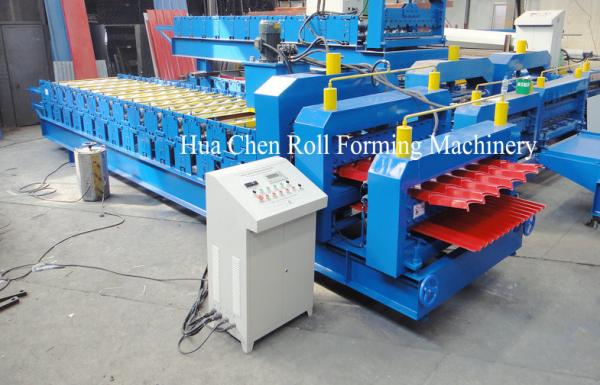 Quality Color Coated Double Layer Roll Forming Machine for sale