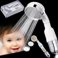 China Massage Handheld Shower Head Negative Ion Spa Korean Style With Selenium Rich Ball on sale