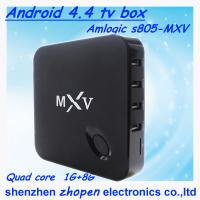 China cheap price android tv box mxv amlogic s805 tv box quad core with air mouse and keyboard wholesale