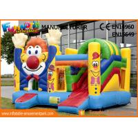 Buy cheap Children Game Clown Inflatable Bouncer Slide For Backyard / Zoo / Water Park from wholesalers