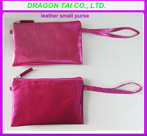 Quality PU leather purse for girl,  small leather purse, measure 18cmL x 11cmH for sale
