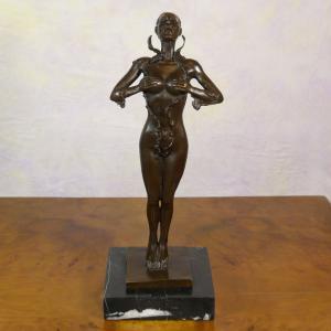China Hand-made Fine Art Bronze Dancer Craft wholesale