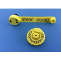 China 134.2khz Sheep Ear Tags For Electronic Identification Tracking , TPU Material wholesale