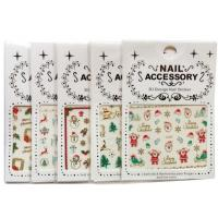 China Christmas Nail Accessory 3 D Design Nail Sticker Nail Art Sticker Decoration wholesale