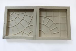 China Garden Plastic Moulds For Interlocking Tiles ISO9001 Concrete Pavers Rubber Molds on sale