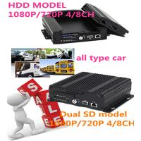 China 3G 4G Wifi GPS 4CH SD Card HDD  HD Mobile DVR With sim card for Car Security wholesale