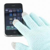 China Touch Gloves for I phone, Made of 100% Acrylic, Available in Various Colors wholesale
