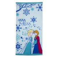 China Cute Children's Cotton Beach Towels With Frozen Elsa Sisters Pattern wholesale