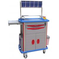 China Emergency Medical Trolleys With Drawers , Four Aluminum Columns For Anesthesia wholesale
