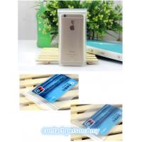 Soft surface PVC zipper pouch , EVA Plastic Pouches Packaging bag for iphone packaging