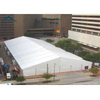 China Large PVC Fabric Warehouse Tents A Frame  Shape Fire Resistant  White wholesale