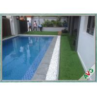 China PU Coating S Shaped Indoor Fake Grass Carpet For Swimming Pool Landscaping on sale
