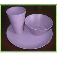 China bamboo fiber tableware on sale