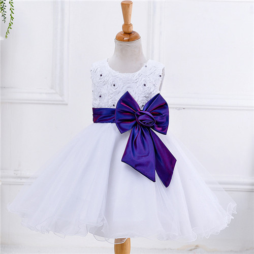 Quality Princess Dress Formal Dress Party Skirt Girls flower girl dresses for wedding pageant first holy lace communion for sale