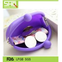 China Fashion candy color waterproof silicone small coin purse very cute and eco-friendly on sale