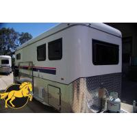 China (Square Roof)2 Horse Angle Load Camping Horse Float on sale