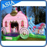 China Inflatable Royal Carriage Moonwalk Bouncer For Children Party Hire Games wholesale