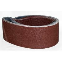 China Steel Aluminum Oxide Narrow Sanding Belts / Grit P36 To Grit P180 wholesale