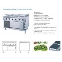 Square Hot Plate Marine Electric Equipment Stainless Steel Cooking Range W / Oven