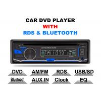 China Bluetooth Car Stereo Dvd Player Single Din Fixed Panel Front Aux Input wholesale