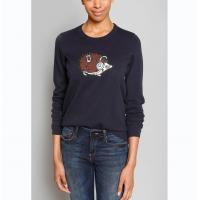 China WOMEN'S 100% COTTON APPLIQUE EMBROIDERY KNITTED SWEATER ( PULLOVER ) on sale