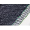 China 14.7oz Dark Blue Stretch Denim Fabric Green Line For Women ' S Selvedge Jeans wholesale