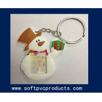 China Snowman Custom Beautiful Soft PVC Key Chain Photo Frames for Promotion Christmas Gifts wholesale
