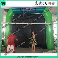 China High Quantity Green Inflatable Paint Booth, PVC tarpulin Inflatable Booth Tent on sale