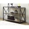 China X Design Metal Frame Wooden Book Case With Shelves , Book Organizer Shelf wholesale