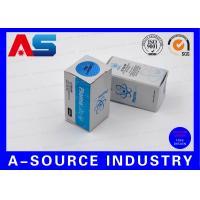 Bodybuilding Small Box 10ml Vial Box Silver Embossed Laser Hologram Pharma Tech