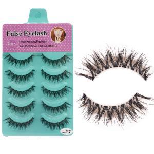 Buy cheap Makeup Natural Thick False Eyelashes Cross Messy Comfortable 10 pairs factory from wholesalers
