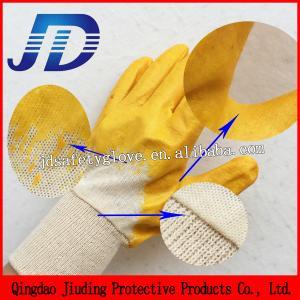 China Free samples China wholesale nitrile coating cotton gloves on sale