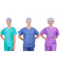 China Dustproof SMS Medical Operating Room Scrubs Uniforms Without Glass Fibres on sale