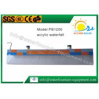 China Plastic Water Fountain Equipment Acrylic Water Descent With 12W Underwater Light on sale