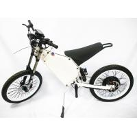 China Full Suspension Electric Mountain Bike 80km / H Max Speed Carbon Steel Frame wholesale