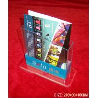 China Hotel / Restaurant Transparent Acrylic Literature Display Stands With 0.8-12mm Thickness wholesale