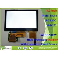 Buy cheap 4.3 Inch Capacitive Touch Screen LCD Display Active Area 34.85 * 43.56mm from wholesalers