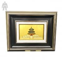 China Indoor  Colorful Square  Metal Frame Art Plating Finished Decorative wholesale