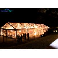 China 500 Guests Wedding Party Transparent Marquee Tent With Glass Walls Lining Curtain wholesale