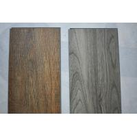 Plastic Wood Look Tile Flooring , UV Coating Glue Down Vinyl Plank Flooring