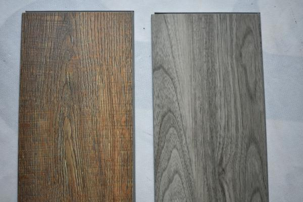 Quality Plastic Wood Look Tile Flooring , UV Coating Glue Down Vinyl Plank Flooring for sale