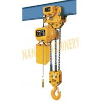 China HHBB Series Electric Chain Hoist - Capacity of 7.5T for Single / Double Speed wholesale