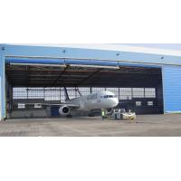 China Single Bay PEB Steel Aircraft Hangars With Electrical Roll-up Doors on sale