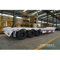 China Low loader semi trailer  with 80 tons trailer to carry construction equipment for sale wholesale