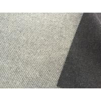 China Different Color Two Layers Wool Striped Fabric Skin Friendly 750g/m on sale