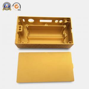China Yellow Coated Cnc Mechanical Parts Electronic Cigarette Aluminum Case wholesale