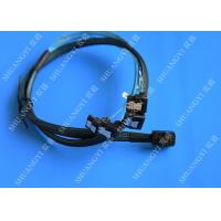 China SFF 8643 To 4x SATA SAS Hard Drive Cable Black Multilane With 4 Channels wholesale