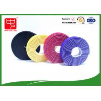 China Plastic hook 2 sided hook and loop tape / back to back Strapping  Hook and Loop Cable Tie wholesale