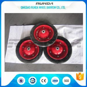 China Narual Solid Rubber Wheels , Bush Bearing Solid Rubber Wheelbarrow Tires TUV wholesale