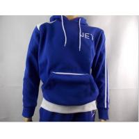 China Long Sleeve heavyweight 100 Cotton Hooded  Sweatshirts for Men , Blue on sale
